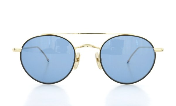 THOM BROWNE.  NEW YORK(トムブラウンニューヨーク)サングラス TB-101 D-T BLK 12K-GOLD 49size Dark Blue 2