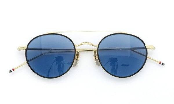 THOM BROWNE.  NEW YORK(トムブラウンニューヨーク)サングラス TB-101 D-T BLK 12K-GOLD 49size Dark Blue 4