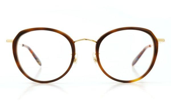 megane and me (メガネアンドミー) メガネ ME006 FELIX DB1 demi/gold/vintage-violet-marble 2