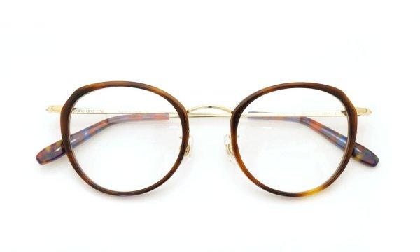 megane and me (メガネアンドミー) メガネ ME006 FELIX DB1 demi/gold/vintage-violet-marble 4