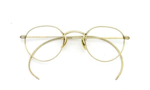 American Optical アメリカン オプティカル vintage ヴィンテージ メガネ 1930年代 PANTO FUL-VUE MARSHWOOD 1/10 12kGF 39-22 折りたたみ