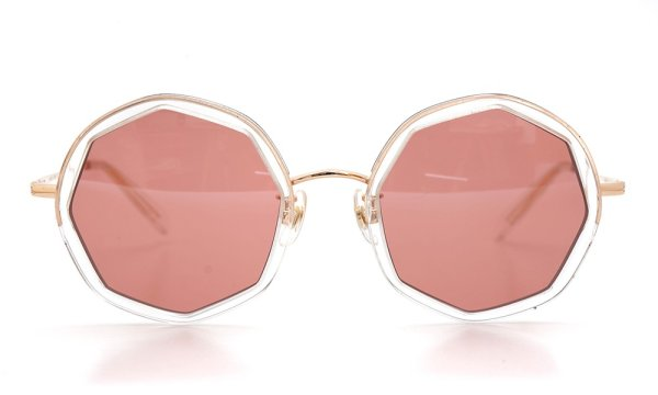 megane and me サングラス ME005 EDIE PG Gold/Clear 2