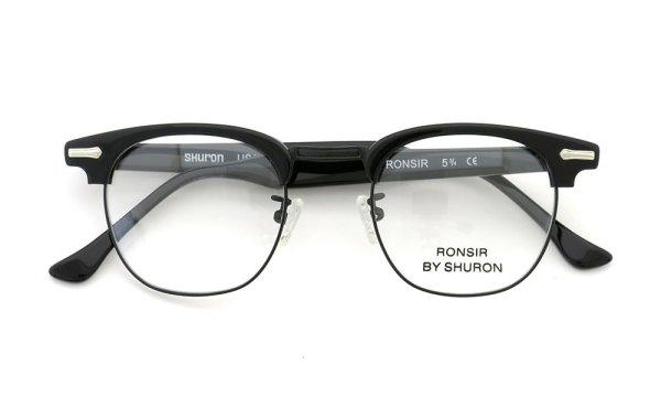 HURON シュロン メガネ RONSIR ロンサー ZYL Black/Black 48-22
