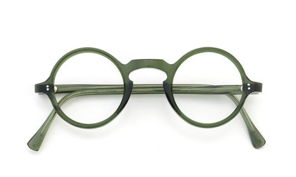 FRENCH Vintage ROUND DARK-GREEN