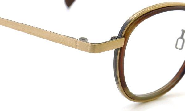 Preciosa メガネ mod.863 col.23 Antique Gold/Brown Horn