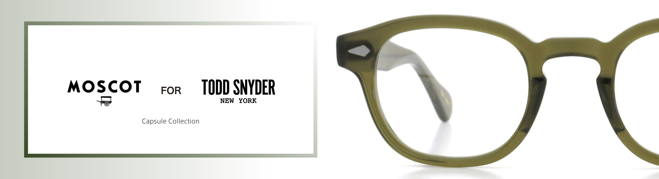 TODD SNYDER×MOSCOT コラボレーション