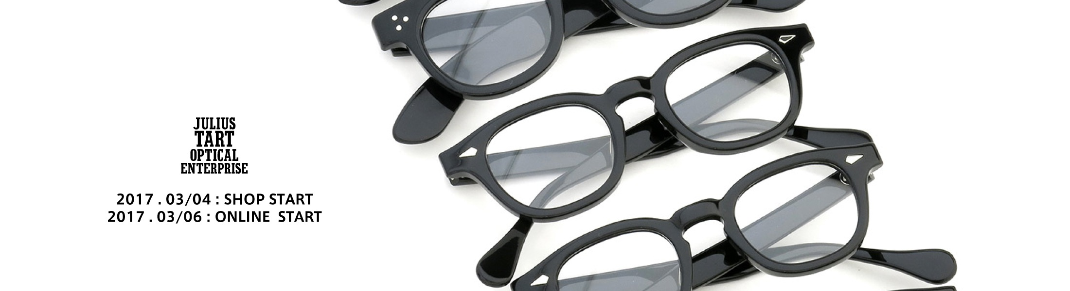 JULIUS TART OPTICAL 販売開始