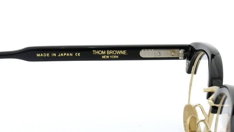 THOM BROWNE.  NEW YORK(トムブラウンニューヨーク)メガネ TB-702 A-T-BLK-GLD-47 ポンメガネイメージ9