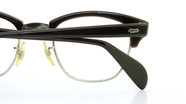 American Optical 60s サーモント 6 4-3/4 AO鋲  チョコレート/シルバー 48size 10