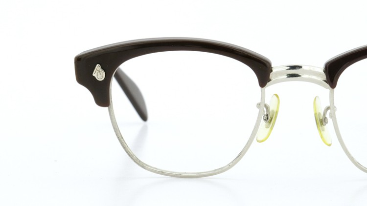 American Optical 60s サーモント 6 4-3/4 AO鋲  チョコレート/シルバー 48size 11