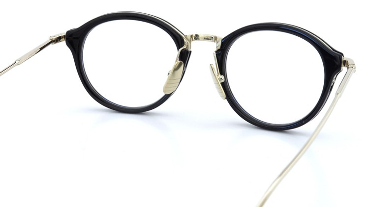 THOM BROWNE.  NEW YORK(トムブラウンニューヨーク)メガネ TB-011A 46size BLACK/SHINY 12K GOLD BRIDGE&TEMPLES イメージ7