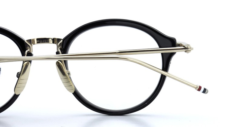 THOM BROWNE.  NEW YORK(トムブラウンニューヨーク)メガネ TB-011A 46size BLACK/SHINY 12K GOLD BRIDGE&TEMPLES イメージ14