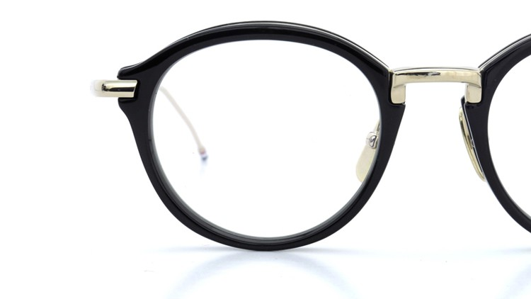 THOM BROWNE.  NEW YORK(トムブラウンニューヨーク)メガネ TB-011A 46size BLACK/SHINY 12K GOLD BRIDGE&TEMPLES イメージ15