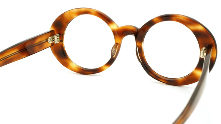 FRANCE-Vintage 1970s TWO STAR DOTS OVAL FRAME TORTOISE 42-21 6