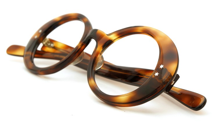 FRANCE-Vintage 1970s TWO STAR DOTS OVAL FRAME TORTOISE 42-21 10