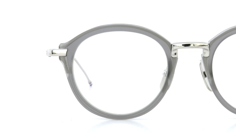 THOM BROWNE.  NEW YORK(トムブラウンニューヨーク)メガネ TB-011C 46size SATIN GREY CRYSTAL/SHINY SILVER BRIDGE AND TEMPLES 15