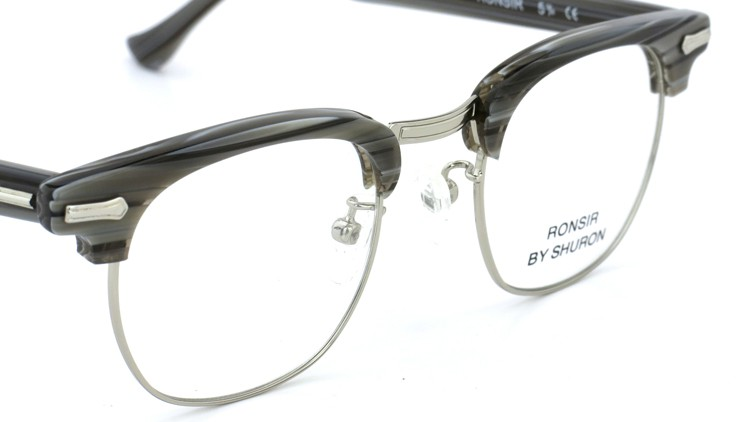 SHURON(シュロン) メガネフレーム RONSIR ZYL (Grey Briar/Silver) 46-22 6