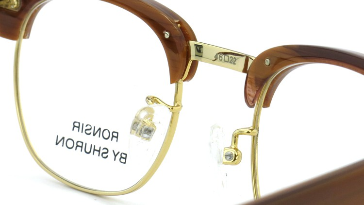 SHURON(シュロン) メガネフレーム RONSIR ZYL (Golden Briar/Gold) 46-22 8