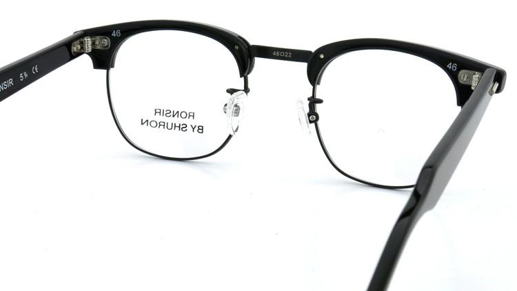 SHURON(シュロン) メガネフレーム RONSIR ZYL (Black/Black) 46-22 7