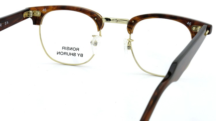 SHURON(シュロン) メガネフレーム RONSIR ZYL  (Tortoise/Gold) 46-22 7