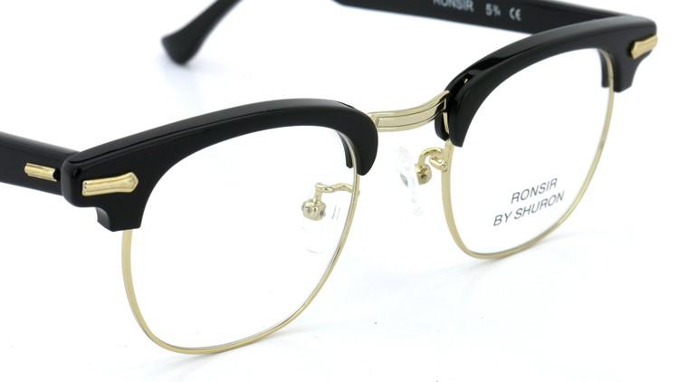SHURON(シュロン) メガネフレーム RONSIR ZYL (Black/Gold) 46-22 6