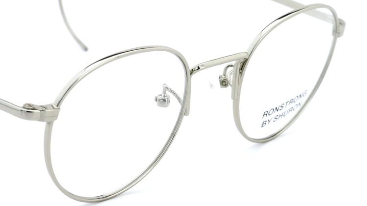 SHURON(シュロン) メガネフレーム RONSTRONG 46size Silver 6