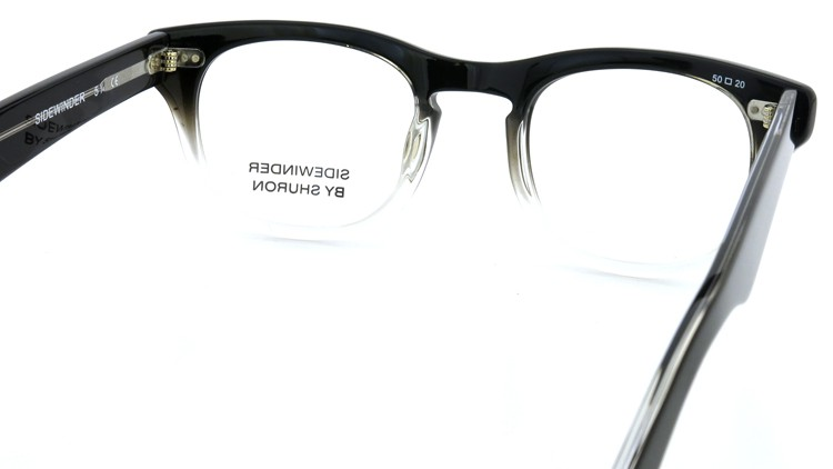 SHURON SIDEWINDER BLACK/CLEAR 50size 7