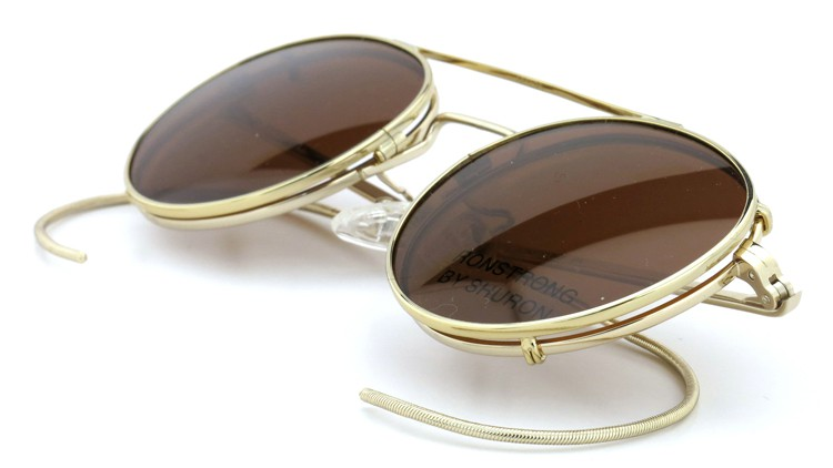 SHURON(シュロン) メガネフレーム RONSTRONG 46size Gold with clipon sunglass 11
