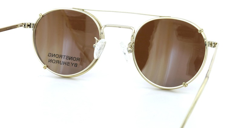 SHURON(シュロン) メガネフレーム RONSTRONG 46size Gold with clipon sunglass 8
