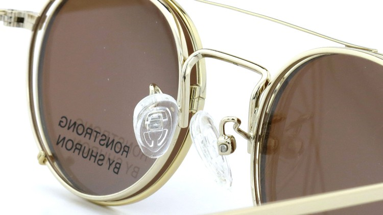 SHURON(シュロン) メガネフレーム RONSTRONG 46size Gold with clipon sunglass 9
