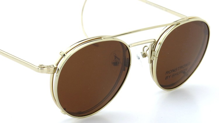 SHURON(シュロン) メガネフレーム RONSTRONG 46size Gold with clipon sunglass 7