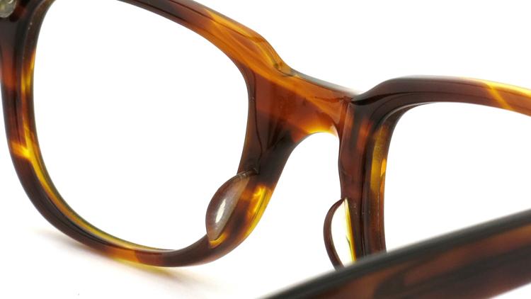 American Optical アメリカンオプチカル (AO)Vintage ヴィンテージメガネ F523 MAINEVENT 変形ダイヤ鋲 AMBER 46-22 8