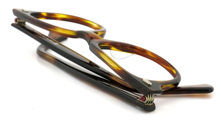 American Optical アメリカンオプチカル (AO)Vintage ヴィンテージメガネ F523 MAINEVENT 変形ダイヤ鋲 AMBER 46-22 11