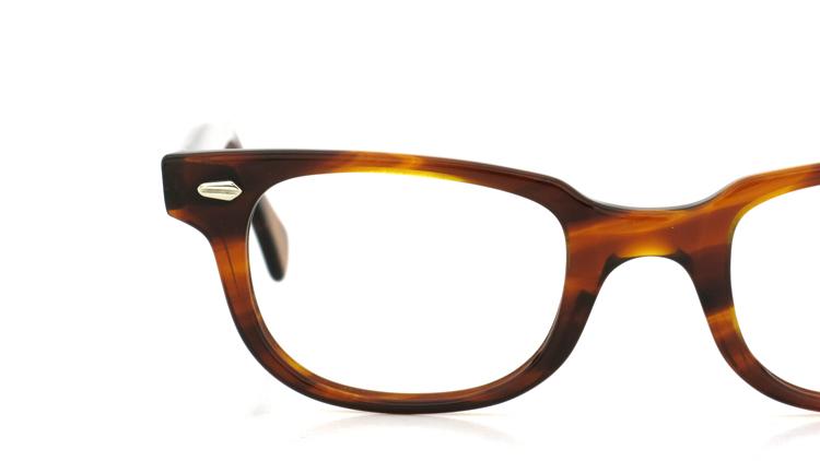 American Optical アメリカンオプチカル (AO)Vintage ヴィンテージメガネ F523 MAINEVENT 変形ダイヤ鋲 AMBER 46-22 13