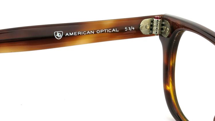 American Optical アメリカンオプチカル (AO)Vintage ヴィンテージメガネ F523 MAINEVENT 変形ダイヤ鋲 AMBER 46-22 9