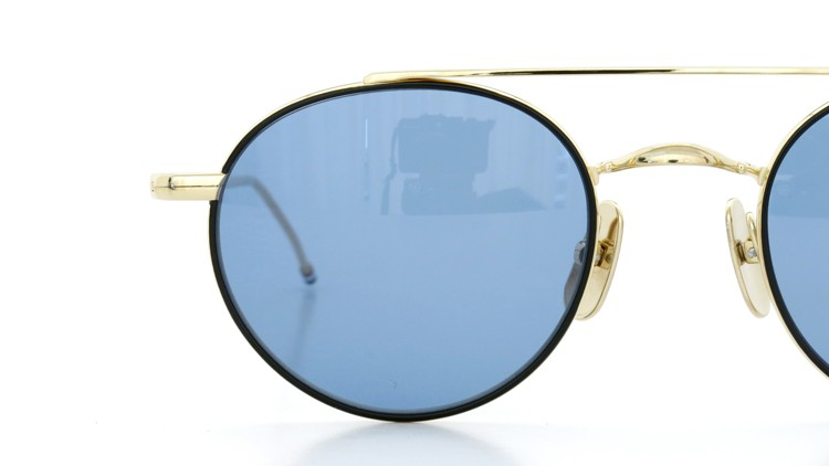 THOM BROWNE.  NEW YORK(トムブラウンニューヨーク)サングラス TB-101 D-T BLK 12K-GOLD 49size Dark Blue 15