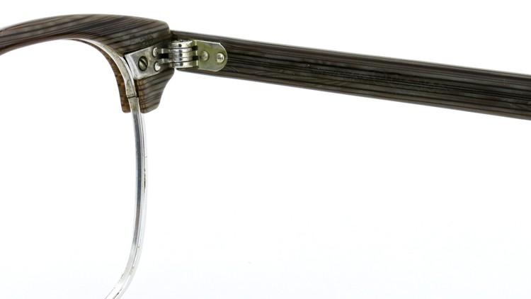 アメリカンオプチカル (AO)Vintage ヴィンテージ 60s マルコムXモデル type:2 ウイング鋲 1/10-12KGF Gray-Wood 46-24 10