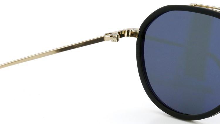 THOM BROWNE トムブラウン サングラス TB-801-A GLD-MBLK-51size Dark-Grey-lense ポンメガネイメージ 9