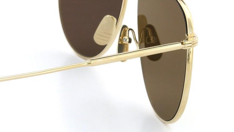 THOM BROWNE.  NEWYORK(トムブラウンニューヨーク)2014S/S 限定生産 サングラスTB-015-LTD GLD-62size ゴールドミラーダークブラウンフラットレンズ 8