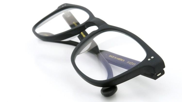 GLCO (ジーエルシーオー) × WARAIRE BOSWELL (ワライア ボズウェル) コラボレーション メガネ US112 Matte Black 12