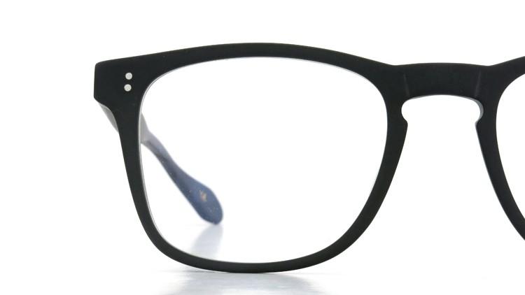GLCO (ジーエルシーオー) × WARAIRE BOSWELL (ワライア ボズウェル) コラボレーション メガネ US112 Matte Black 15