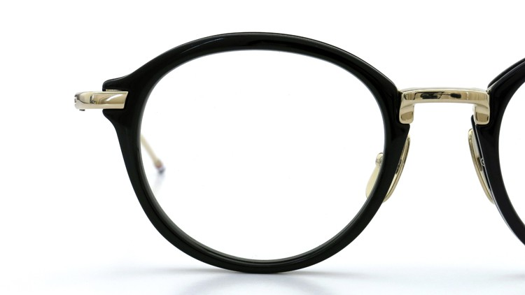 THOM BROWNE. (トムブラウン)メガネ TB-011A 49size BLACK/SHINY 12K GOLD BRIDGE&TEMPLES イメージ12