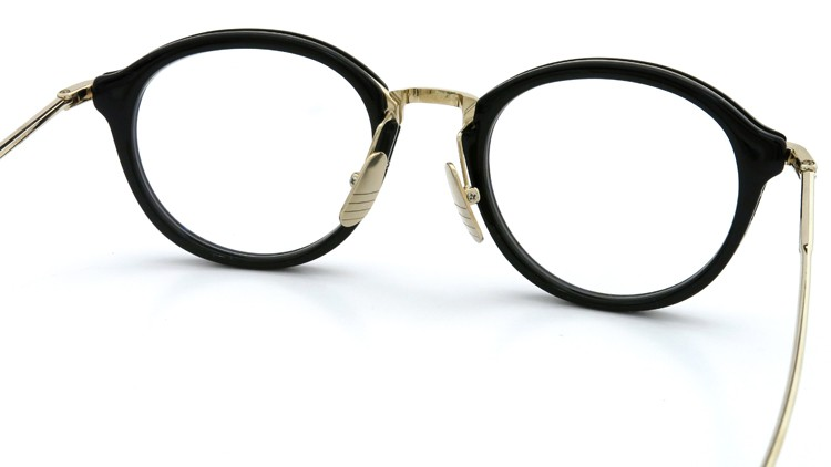 THOM BROWNE. (トムブラウン)メガネ TB-011A 49size BLACK/SHINY 12K GOLD BRIDGE&TEMPLES イメージ6