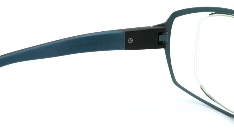 spec espace (スペックエスパス) メガネ ES-6302 ブラック/ダークターコイズブルー 9