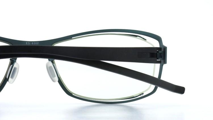 spec espace (スペックエスパス) メガネ ES-6302 ブラック/ダークターコイズブルー 13