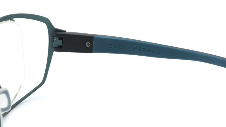 spec espace (スペックエスパス) メガネ ES-6302 ブラック/ダークターコイズブルー 10