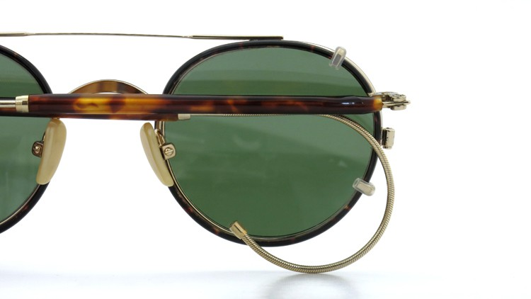 MOSCOT ORIGINALS (モスコット) 2014年新作 メガネ+クリップオンサングラス セット SPIEL 44size Tortoise-Gold with clipon Green-lense 12