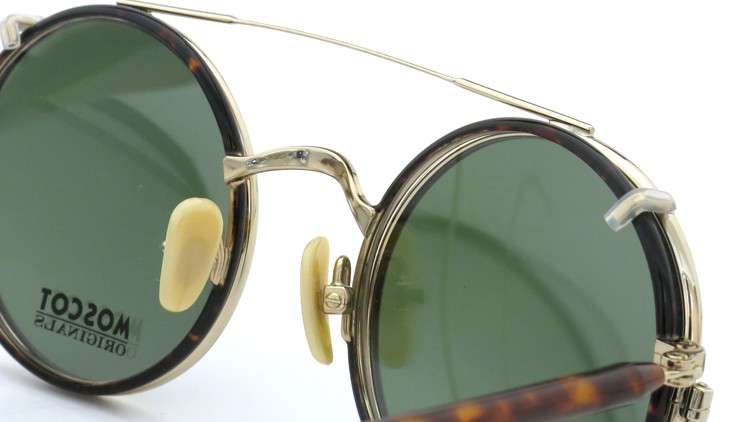MOSCOT ORIGINALS (モスコット) 2014年新作 メガネ+クリップオンサングラス セット NOSH 44size Tortoise-Gold with clipon Green-lense 9