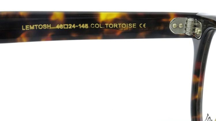 MOSCOT (モスコット) LEMTOSH レムトッシュ Col.TORTOISE 46size 9