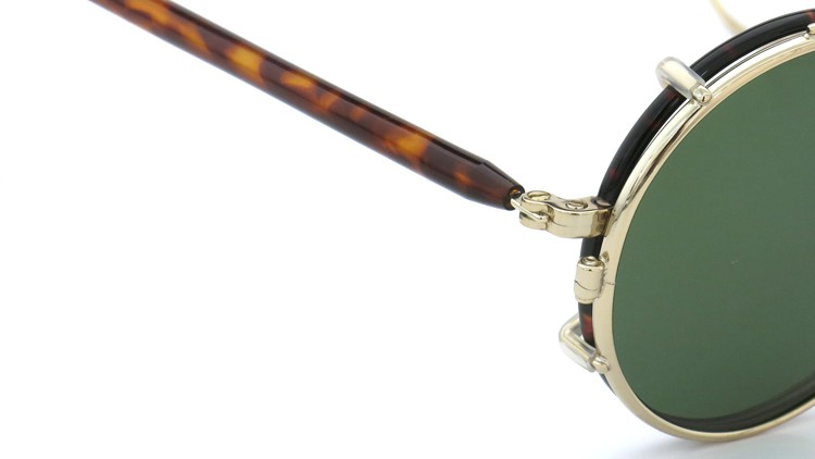 MOSCOT ORIGINALS (モスコット) 2014年新作 メガネ+クリップオンサングラス セット NOSH 44size Tortoise-Gold with clipon Green-lense 6